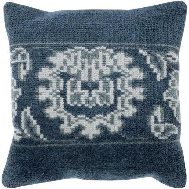 Buckfast Poly Euro Pillow, Blue - Home Depot