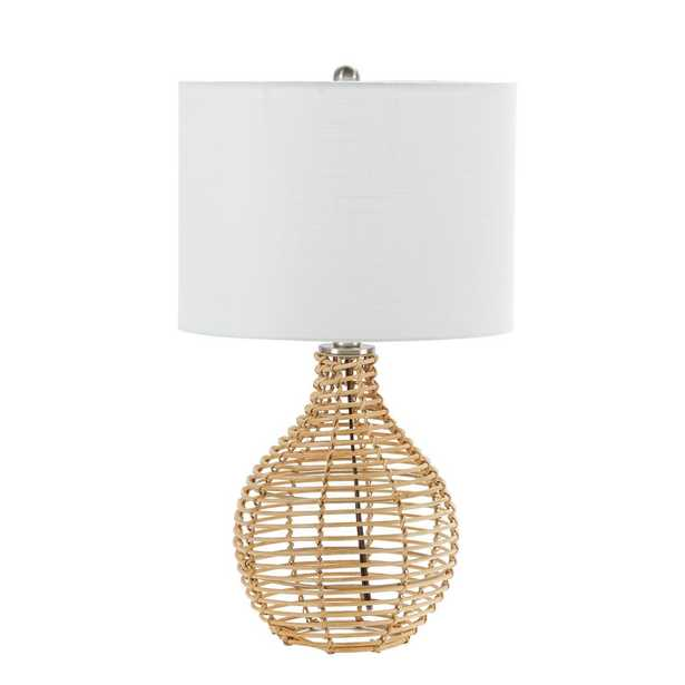 Silverwood Furniture Reimagined Bryce 20.5 in. Tan Rattan Table Lamp with Shade - Home Depot