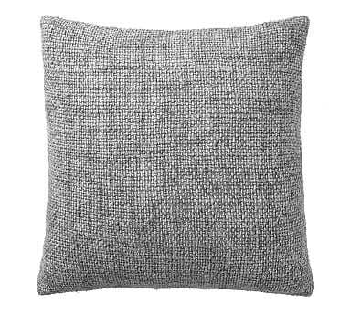 """Faye Textured Linen Pillow Cover, 20"""", Sterling - Pottery Barn"""