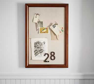 Printer's Home Office Linen Pinboard - Tuscan Chestnut - Pottery Barn