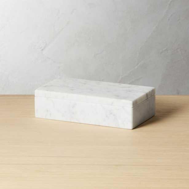 Small White Marble Box - CB2