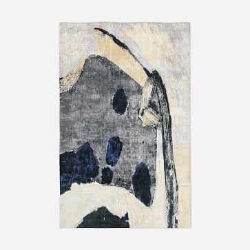 Zoe Bios Islands Rug, Frost Grey, 5'x8' - West Elm