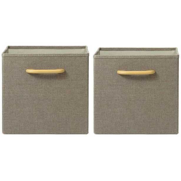 Collapsible Grey Bins with Handles (Set of 2) - Home Depot