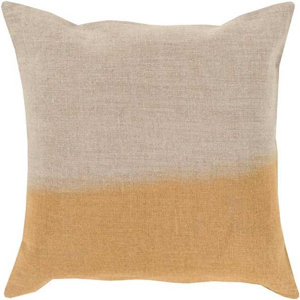 Roxbury Poly Euro Pillow, Yellow - Home Depot