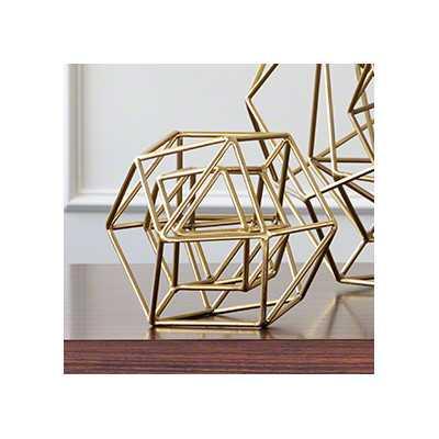 Gold Iron Sculpture - Wayfair
