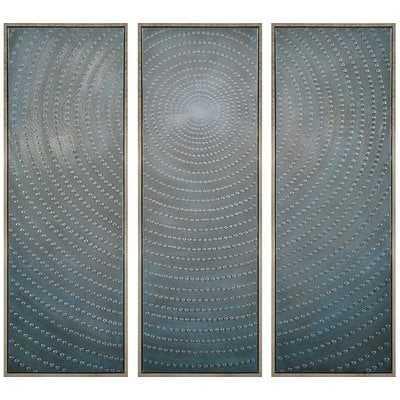 'Concentric' - 3 Piece Picture Frame Multi-Piece Image Print Set on Canvas - Wayfair