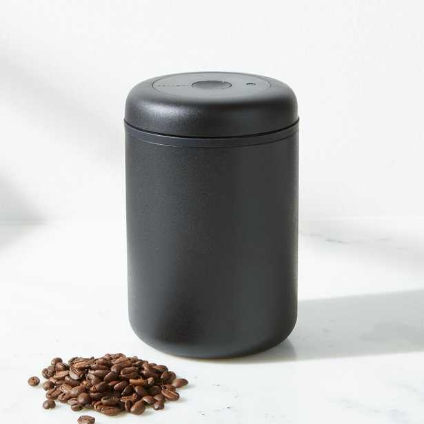 Fellow Atmos 1.2-Liter Matte Black Stainless Steel Vacuum Canister - Crate and Barrel