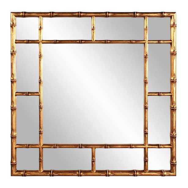 Bamboo Gold Mirror - Home Depot