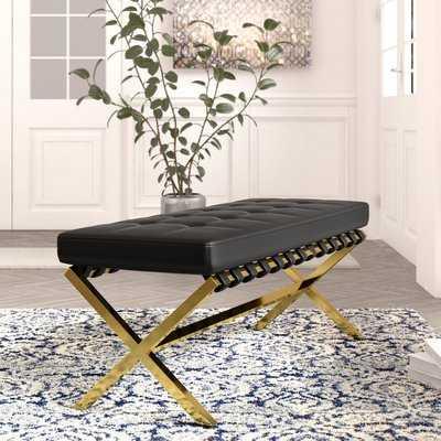 Jolie PU leather Tufted Bench - Wayfair