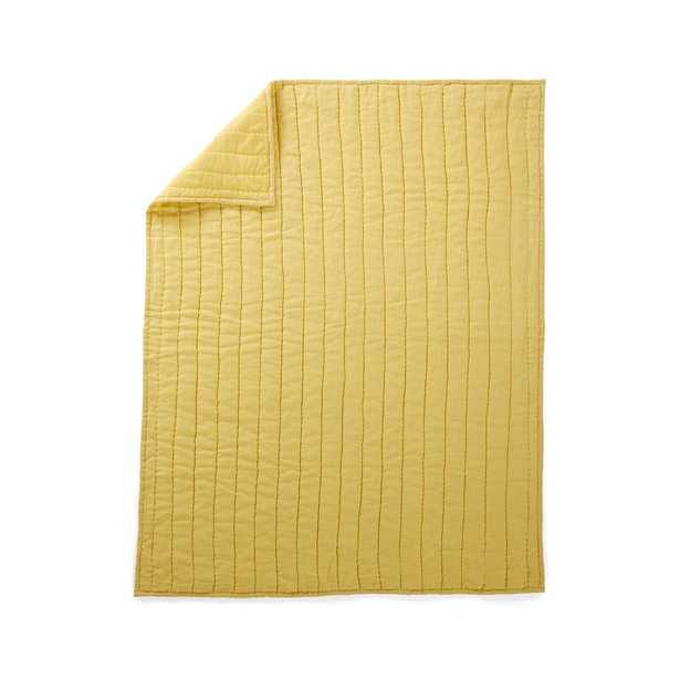 Linen Baby Quilt Dark Yellow - Crate and Barrel