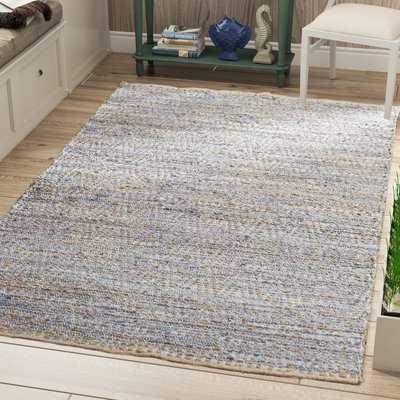 Arria Handmade Flatweave Jute/Sisal Natural/Blue Area Rug - AllModern