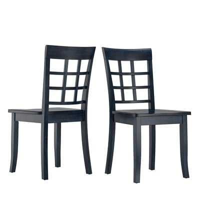 Alverson Solid Wood Dining Chair (Set of 2) - Wayfair