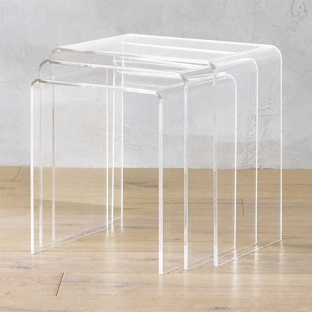 3-piece peekaboo acrylic nesting table set - CB2