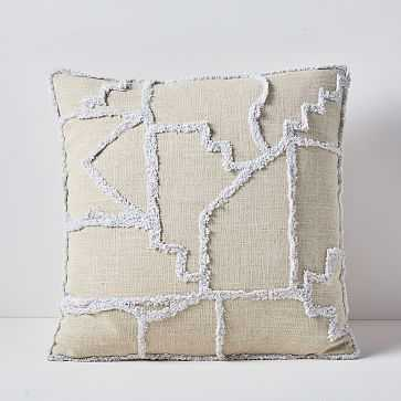 """Candlewick Abstract Labyrinth Pillow Cover, 20""""x20"""", Natural - West Elm"""