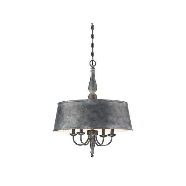 Filament Design 4-Light Farmhouse Tin Chandelier - Home Depot