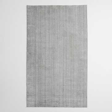 Handloomed Strie Shine Rug, 6'x9', Gray - West Elm