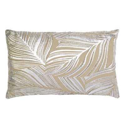 Leaf Embroidery Lumbar Pillow - Wayfair