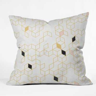 Florent Bodart Marble Keziah Scandinavian Pattern Indoor/Outdoor Throw Pillow - Wayfair