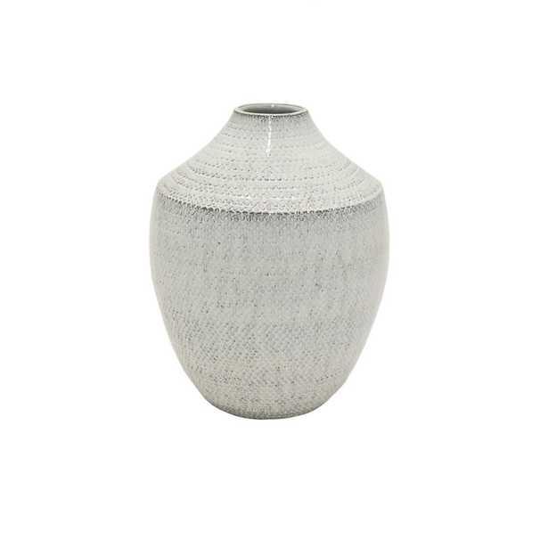 White Ceramic Vase, Whites - Home Depot