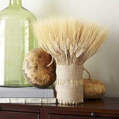 Dried Wheat Bouquet Centerpiece - Birch Lane