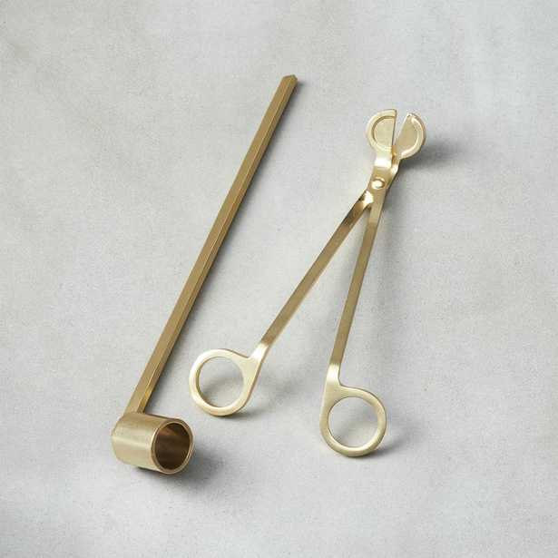 2-Piece Wick Trimmer and Candle Snuffer Set - CB2