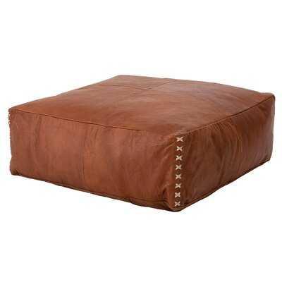 Lachlan Leather Pouf - Wayfair