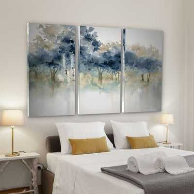'Waters Edge I' Acrylic Painting Print Multi-Piece Image on Wrapped Canvas - Wayfair