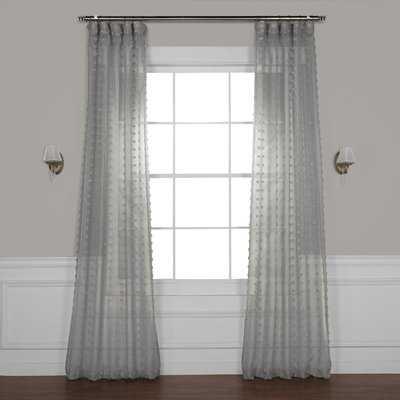 Levesque Sheer Rod Pocket Single Curtain Panel - Birch Lane