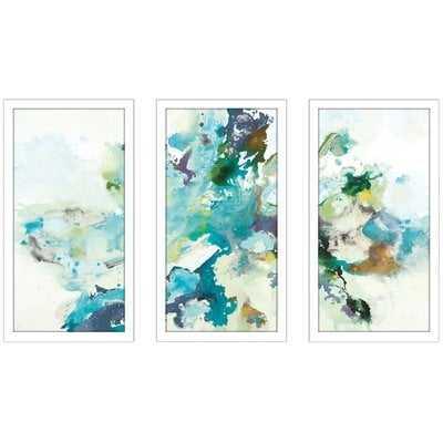 'Remeet' Framed Painting Print Multi-Piece Image on Glass - Wayfair