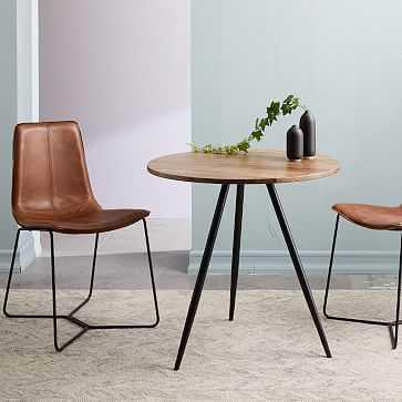 "Wren Bistro Table 30"", Raw Mango, Antique Bronze - West Elm"