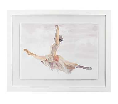 Ballet Grand Jete Framed Artwork, 32x26 - Pottery Barn Kids