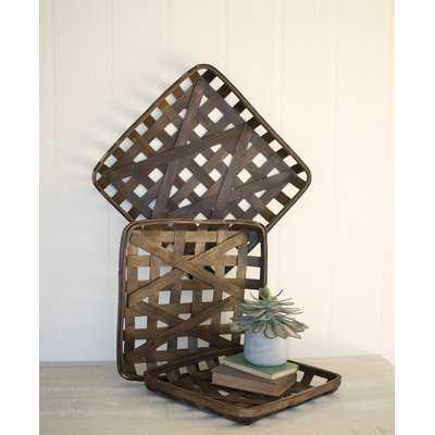 3 Piece Wicker Basket Set - Birch Lane