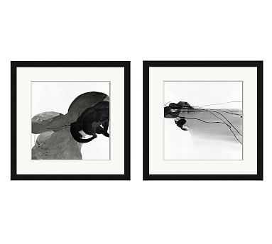 "Bold Gesture Framed Paper Prints, Set of 2, 24"" x 24"" - Pottery Barn"
