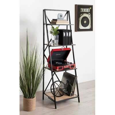 Ironton Farmhouse 4 Tiered Foldable Free-Standing Wood and Metal Etagere Bookcase - Wayfair
