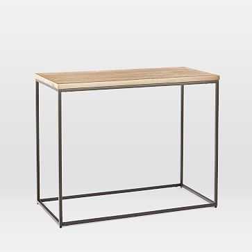 Streamline Side Table, Whitewash, Antique Bronze-Individual - West Elm