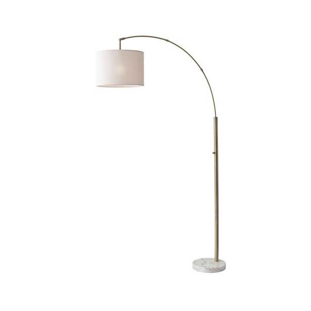 Adesso 73.5 in. Antique Brass Bowery Arc Lamp - Home Depot