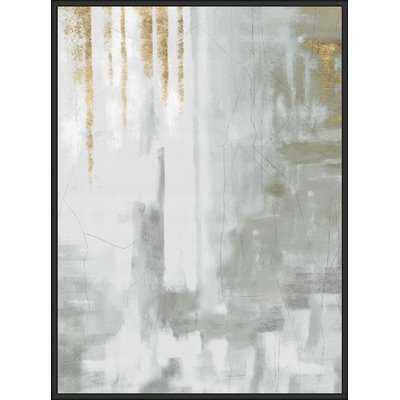 'Watercolor Texture' Framed Graphic Art Print on Canvas - Wayfair