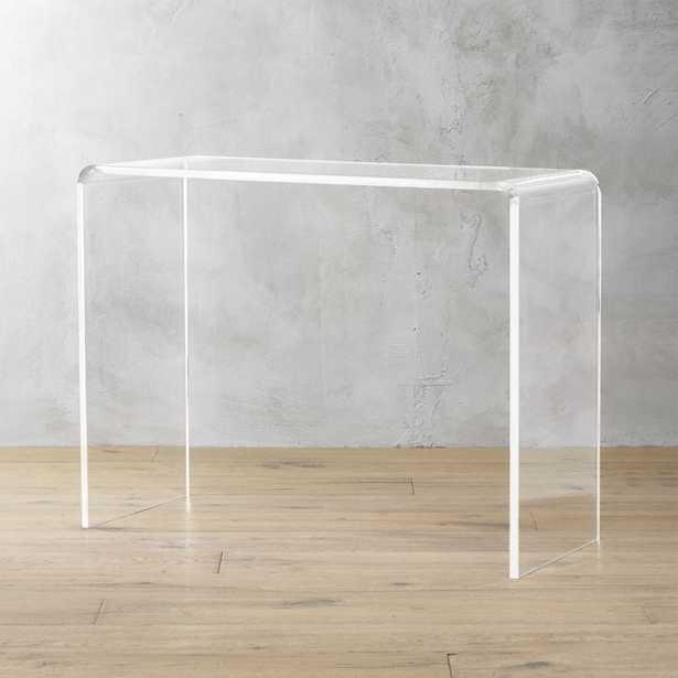 "peekaboo 38"" acrylic console table - CB2"