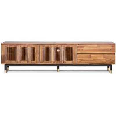 Walnut Scotty Solid Wood TV Stand for TVs up to 78 inches - AllModern