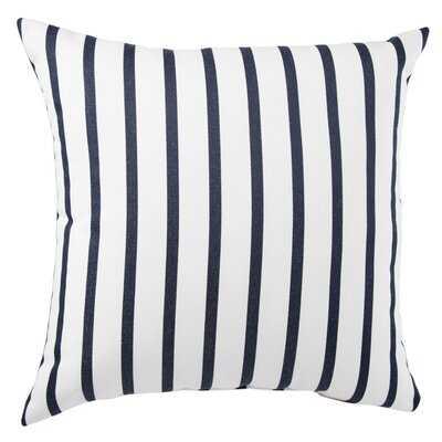 Reel Indoor/ Outdoor Stripes Navy/ White Throw Pillow - Wayfair