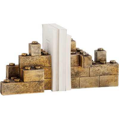 Leggo Gold Bookends - AllModern