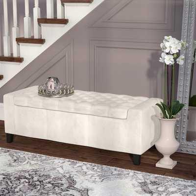 Ilchester Upholstered Flip Top Storage Bench - AllModern