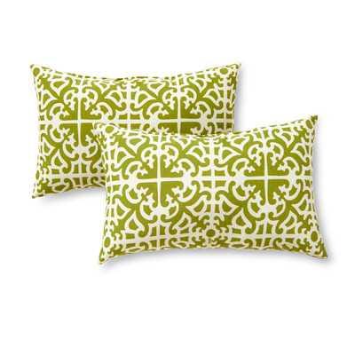 Indoor/Outdoor Lumbar Pillow Cover & Insert - Birch Lane