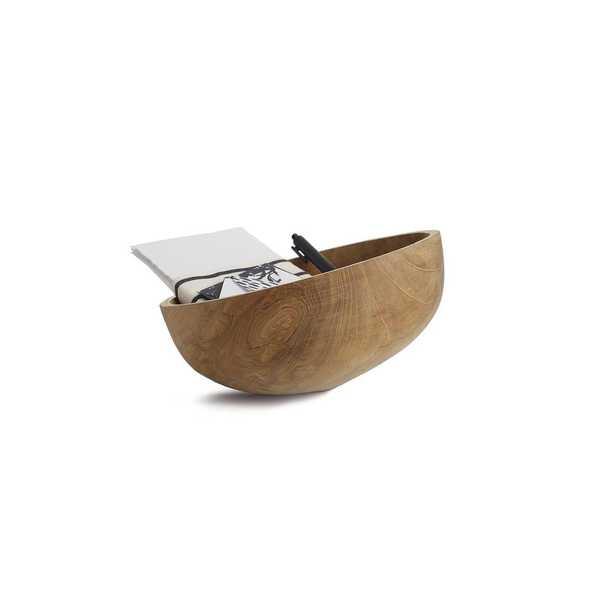 Design Ideas Axis Natural Decorative Wood Bowl - Home Depot