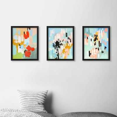 Abstract - 3 Piece Picture Frame Graphic Art Print Set on Canvas - AllModern