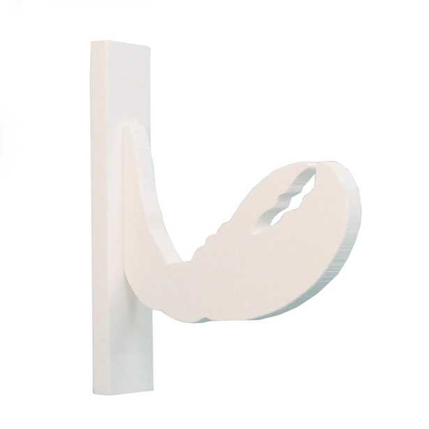 Nature Brackets 4 in. White PVC Decorative Indoor/Outdoor Claw- Crab Hook - Home Depot