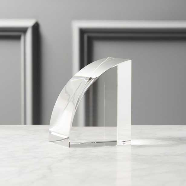 Crystal Glass Bookend - CB2