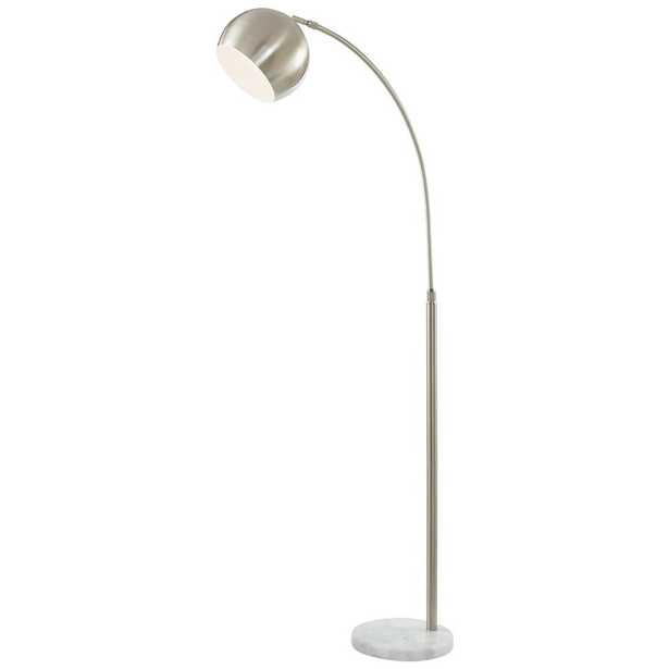 DSI Lighting 70 in. Brushed Steel Arc Floor Lamp - Home Depot