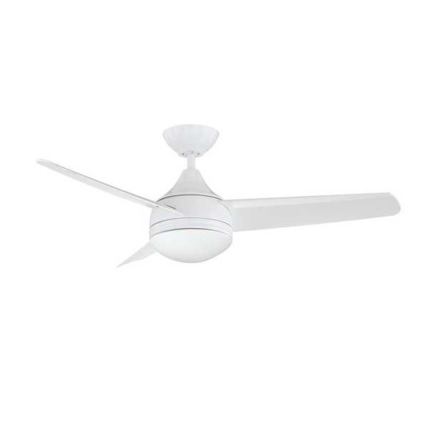 Designers Choice Collection Moderno 42 in. White Ceiling Fan - Home Depot