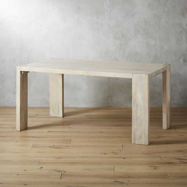 """Blox White Wash Dining Table 35""""x63"""" - CB2"""